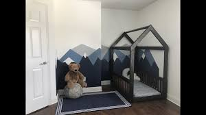 DIY House Frame Floor Bed. Montessori Inspired Floor Bed.