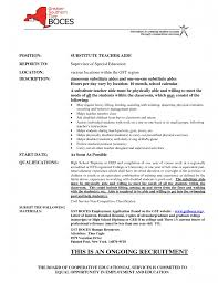 Detailed Resume Best Resume For Substitute Teacher Ideas Best Examples And 100