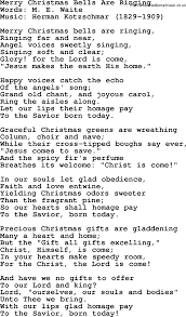 Christmas Powerpoints, Song: Merry Christmas Bells Are Ringing ...