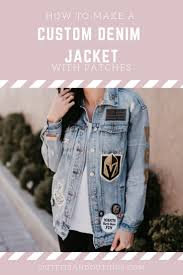 custom denim jacket with patches tutorial