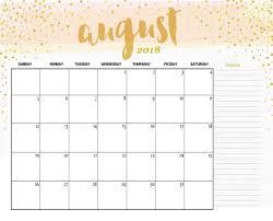 free printable august 2018 desk calendar
