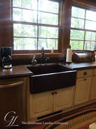 sapele mahogany wood countertops with an undermount sink in plover wisconsin