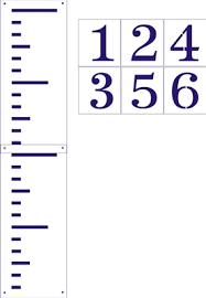 Giant Ruler Stencil Set Regular Or Growth Chart Style