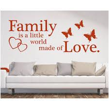 Wandtattoo Familyfriends And Love Wohnzimmer Wandtattoos