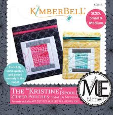 Kimberbell Designs Kimberbell Designs The Kristine Zipper Pouches Spool Small And Medium With Cd Kd615
