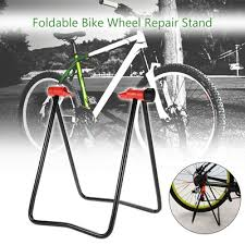 Bicycle Wheel Display Stand Qoo100 Bicycle Bike Cycle Foldable Wheel Hub Repair Stand Floor 26