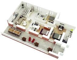 One Bedroom Design 25 More 3 Bedroom 3d Floor Plans Architecture Design