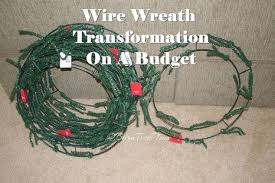 wire wreath chandelier hometalk