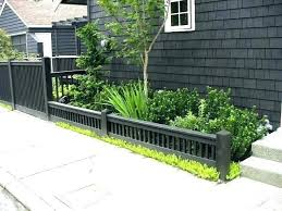 small garden fence ideas short fencing for cushioned black low and also design gar