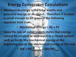 energy conversion and conservation by
