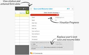 View status and entered form data, Visualize Progress, Replace user's lost  save and resume