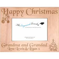 Christmas Personalised Oak Wood Wooden Photo Frame 5x7 Template 1