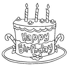 Birch Log Cake Birthday Cake Coloring Page Free Printable
