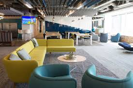 Entire office decked Faacusa Benevitys Calgary Team Moved Into Its New Bridgeland Office In 2017 Spanning Three Floors The Bright Dogfriendly Space Is Decked Out In 19 Colourful Avenue Calgary Awesome Calgary Offices We Visited In 2018 Avenue Calgary