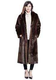 sable signature full length faux fur coat 1