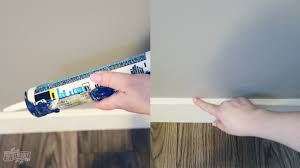 how to caulk trim before painting