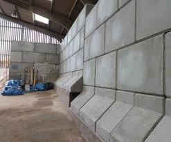 legato precast concrete blocks in salt barn