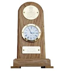 exclusive to uk military gifts solid oak presentation desk clock
