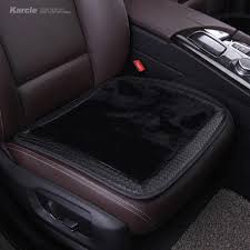 karcle sheepskin fur car seat covers wool amp leather seat cushion for winter anti skid pad protector car styling auto accessories leather car seat