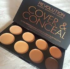 ultra cover and conceal palette makeup revolution cover conceal palette um dark cream concealer contour