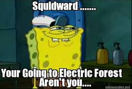 Meme Maker - Squidward ....... Your Going to Electric Forest Aren ... via Relatably.com