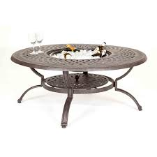 kensington firepit grill 120cm round lounge table with 2 lounge armchairs and 2 swivel rockers