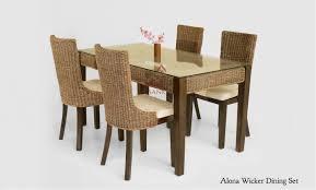 Alona Rattan Dining Set Indonesia Teak Java Furniture Manufacturer
