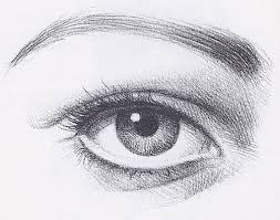 eyebrow shading drawing. drawing eyes, pencil of an eye, linear eyebrow shading e