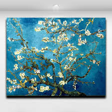 blossoming almond tree by van gogh famous works oil painting printed on canvas mural art picture home living room wall decor van gogh painting canvas prints