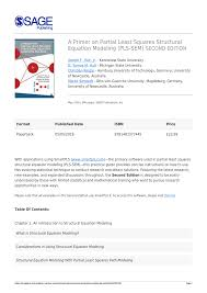 a primer on partial least squares structural equation modeling pls sem 2nd edition pdf available