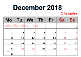 blank calendar december 2018 free design 4