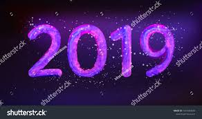2019 Happy New Year Vector Illustration Stock Vector Royalty Free