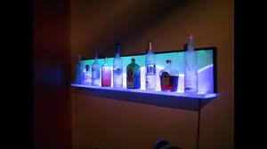 custom led floating wall shelf