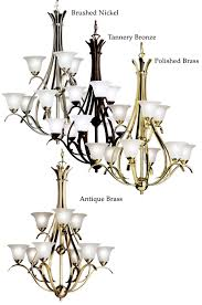 kichler 2520 dover 9 light double tiered transitional chandelier light fixture loading zoom