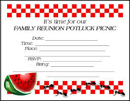 Family Reunion Flyer Templates Free Family Reunion Invitations Tips Samples Templates Printables