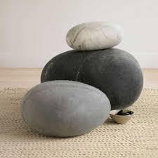 Felt stone rug / bath mat super soft with soft core wool gray-white 3D
