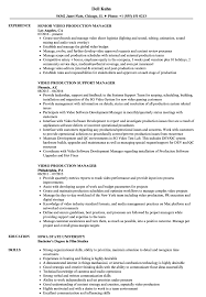 Video Production Resume Samples Video Production Manager Resume Sample Video Production Resume