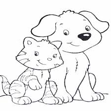 Dog And Cat Coloring Pages To Print Out 1647 Dog And Cat Coloring