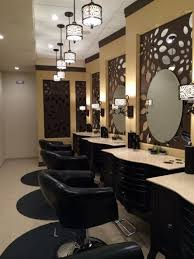 beauty salon lighting. mats and stylist rolling stool all provided by minerva beauty together they give our salon the beachy warm feeling that helps lighting