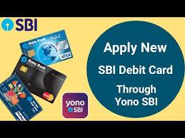 new debit card request by yono app