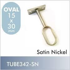 oval closet rod center support satin nickel