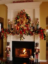 23 Mantel Christmas Fireplaces Decoration Ideas Red Mantel Christmas  Fireplaces Decoration Ideas  nijihomedesign.