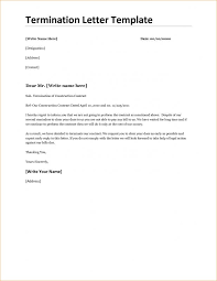 Termination Letter Template Sample Termination Letter For Cause Template Business