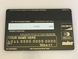 back of custom metal black card