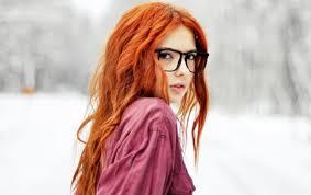 Tapety ženy Ryšavý Model Dlouhé Vlasy Sluneční Brýle červené