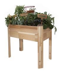 garden planters. Amazon.com: CedarCraft Elevated Cedar Planter (18\ Garden Planters