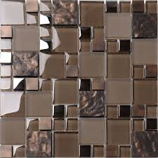 kitchen brown glass backsplash. Brown Glass Mosaic Kitchen Backsplash Tile, A