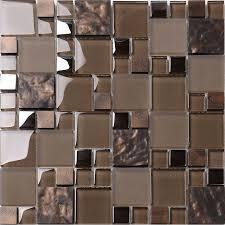 brown glass mosaic kitchen backsplash tile