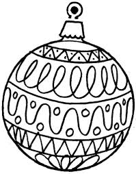 Coloring Christmas Ornaments Printable Free Christmas