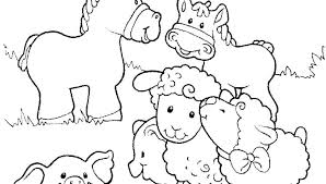 Farm Coloring Pages Printable Farm Coloring Pages Barn Free Animal